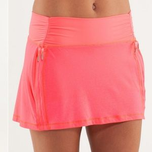 Lululemon hot & sweaty pink skirt